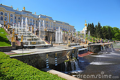 Fountains of Petergof. Saint Petersburg