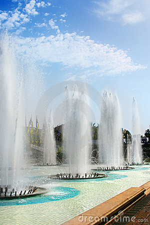 Fountains in summer Nice