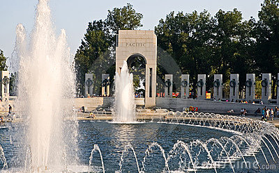 Fountains at World War II Memorial