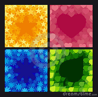 Four abstract backgrounds