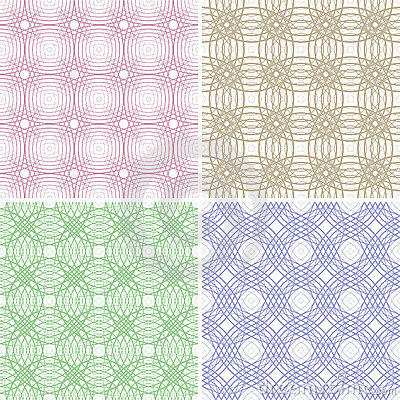 Four abstract seamless backgrounds