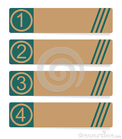 Four abstract vector banner