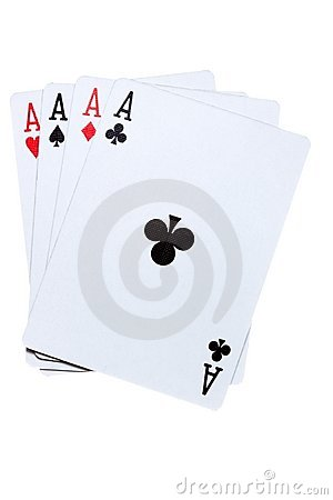 Free Four Ace Combination. Stock Photos - 13484343