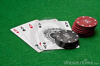 Four ace - win combination