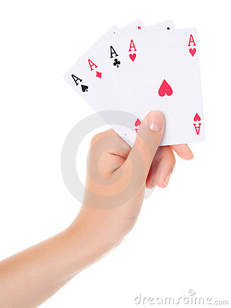 Free Four Aces Royalty Free Stock Photography - 17855577