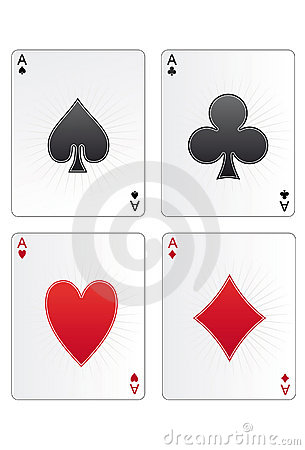 Free Four Aces Royalty Free Stock Image - 4044476