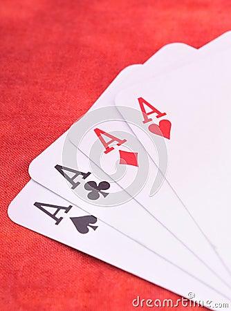 Free Four Aces Royalty Free Stock Photos - 7496448