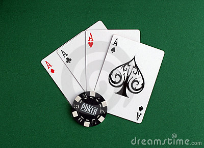 Four aces and bet