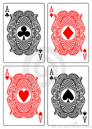 Four aces club diamond heart spade