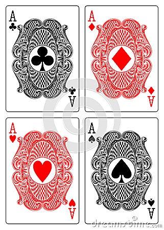Four aces club diamond heart spade