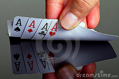 Four aces in hand