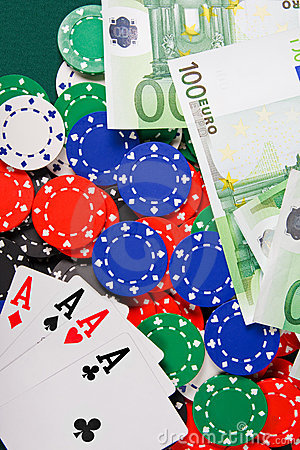 Free Four Aces On Casino Table Royalty Free Stock Image - 8586646