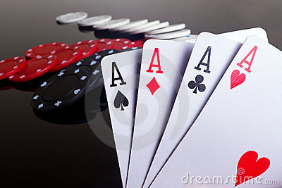 Four aces in poker