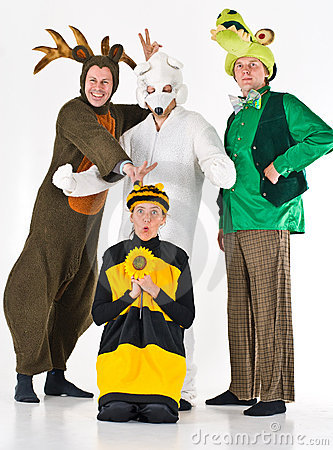 Four adults in costume