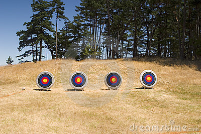 Four Archery Targets