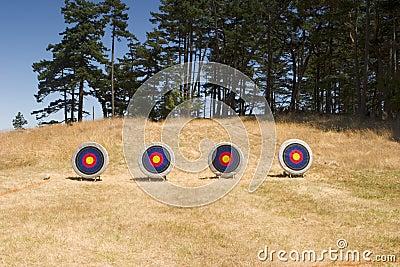 Four Archery Targets