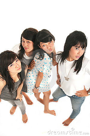 Four asian girls