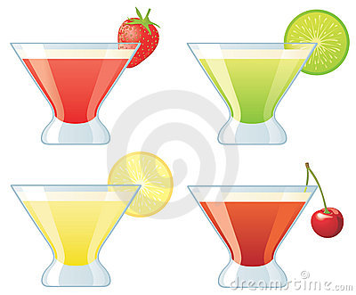 Four assorted cocktails
