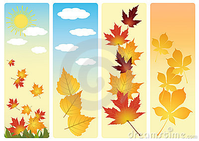 Four autumn banners.