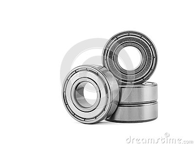 Four ball bearing, isolated on a white background