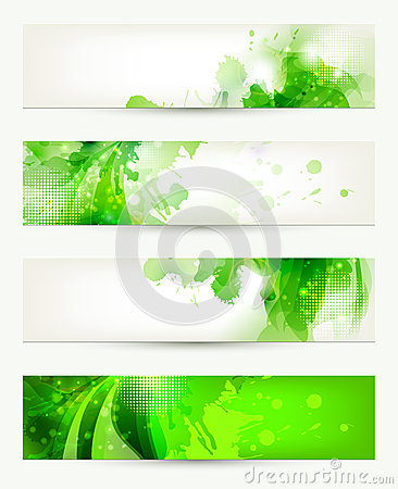 Free Four Banners Stock Photography - 37029742