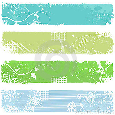 Free Four Banners - Vector Set Royalty Free Stock Images - 9137459