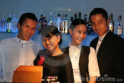 Four bar staff