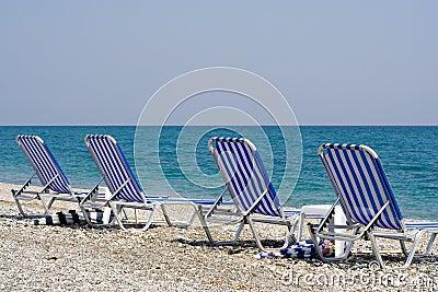 Four Beach Chairs