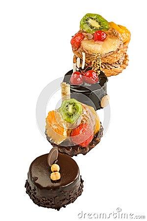 Four beautiful cakes