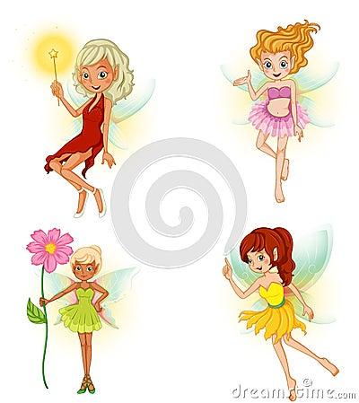 Four beautiful fairies