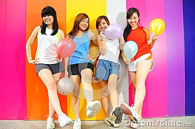 Four Beautiful Girlfriends
