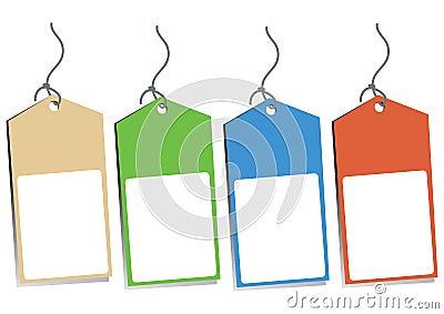 Four Blank Hang Tags