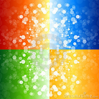 Free Four Blurry Lights Backgrounds Royalty Free Stock Photos - 16643298
