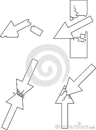 Four broke arrows