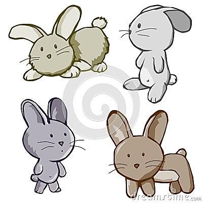 Four Bunny cartoons