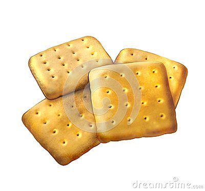 Sugar cookies. Square cookies. Isolated realistic