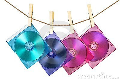 Four CDs in coloful cases fixe