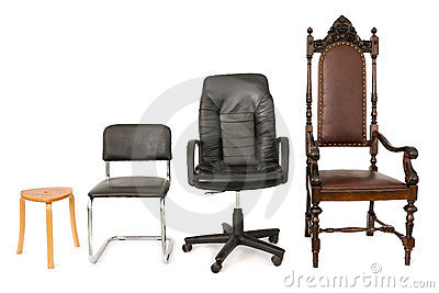 Four chairs representing development, career