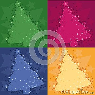 Four Christmas background