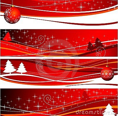 Free Four Christmas Banner Illustration Royalty Free Stock Photos - 7195968