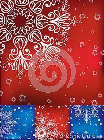 Four Christmas card set