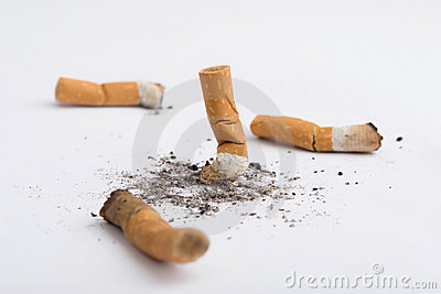 Four cigarettes butt