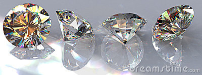 Four Clear Diamonds