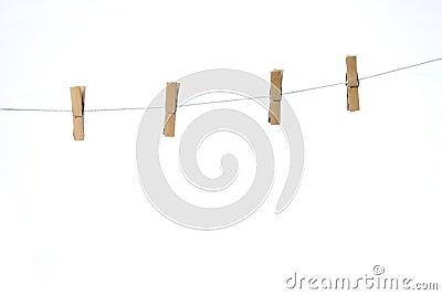 Four clothes peg