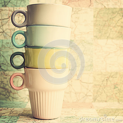 Free Four Coffee Cups Stock Image - 33802891