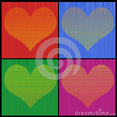 Four Color Heart of Hearts