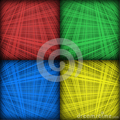 Four Color Interlocking Lines Background