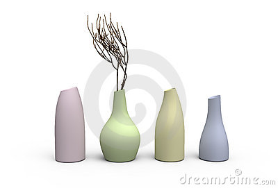 Four color vases
