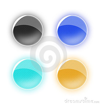 Four colored buttons