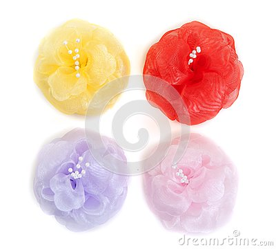 Four colored flower fabric